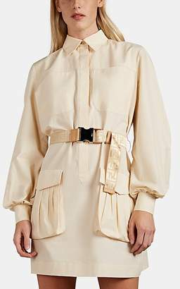 Fendi Women's Cotton Belted Utility Shirtdress - Cream