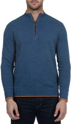 Robert Graham Cavalry Classic Fit Quarter Zip Sweater