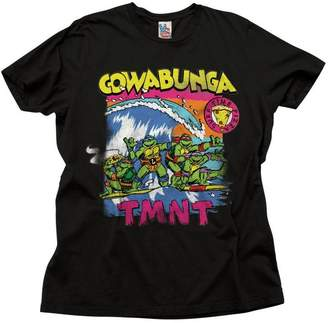 Junk Food Clothing TMNT Cowabunga Surfing Adult T-Shirt (Adult)