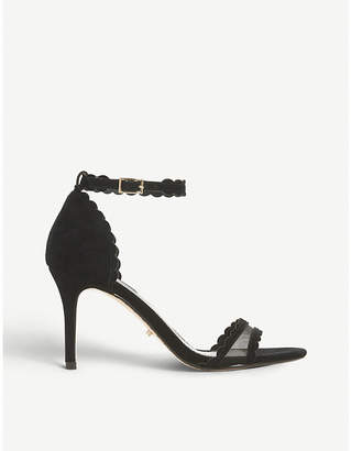 Dune Maam two-part suede heeled sandals
