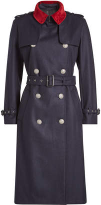 The Kooples Wool Trench Coat