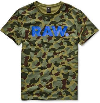 G Star Men's Camouflage Logo Graphic T-Shirt
