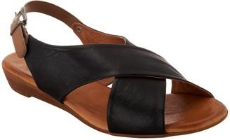 Miz Mooz Leather Cross Strap Sandals - Anya