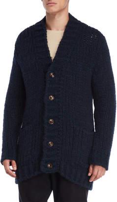 Roberto Collina Navy Chunky Knit Cardigan