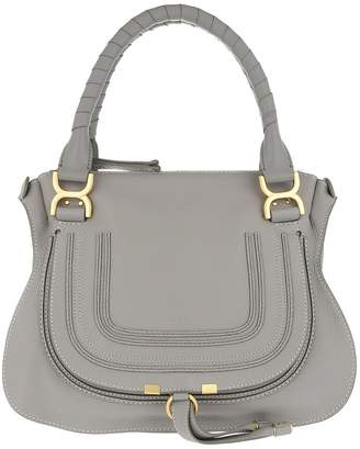 Chloé Marcie Medium Shoulder Bag Cashmere Grey