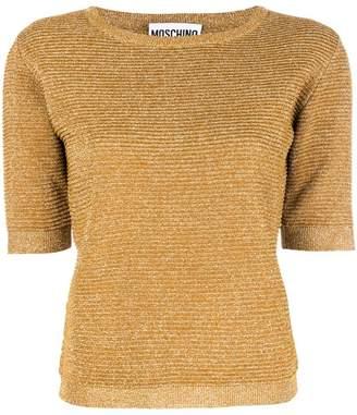 Moschino metallic short-sleeve sweater