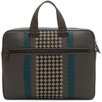 Bottega Veneta Grey Medium Club Briefcase