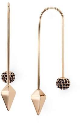 Rebecca Minkoff Pavé Ball Threader Earrings