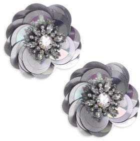 Kate Spade Snowy Nights Sequin Statement Stud Earrings