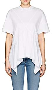 Cédric Charlier Women's Cotton Jersey Handkerchief T-Shirt - White
