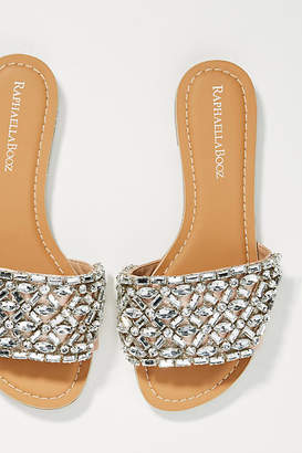 Raphaella Booz Embellished Slide Sandals