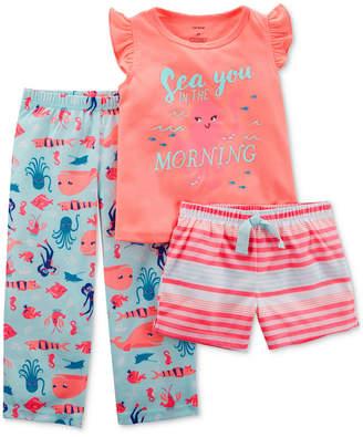 Carter's 3-Pc. Sea You In The Morning Pajama Set, Little Girls & Big Girls