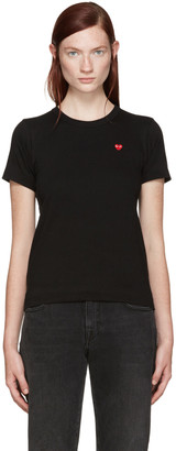 Comme des Garçons Play Black Small Heart Patch T-Shirt $85 thestylecure.com