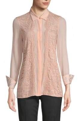 Robert Graham Carina Silk-Blend Embroidery Shirt