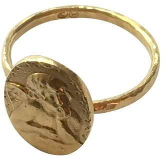 Cathy Waterman 22K Yellow Gold with Putti Angel Relief Ring Size 6.5