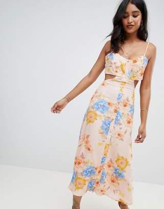 Flynn Skye bloom cut out midi dress
