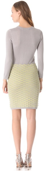 Yigal Azrouel Cut25 by Fish Scale Knit Dress