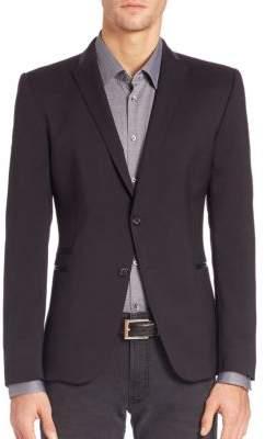 Strellson Virgin Wool Button Front Blazer
