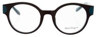 Salvatore Ferragamo Round Logo Eyeglasses w/ Tags