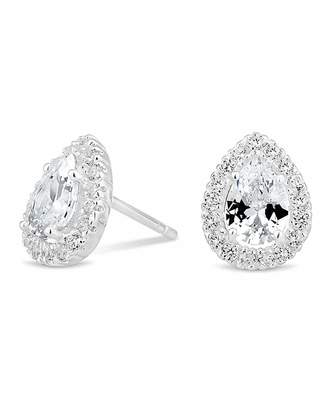 Jon Richard Simply Silver By Simply Silver Peardrop Cluster Earring