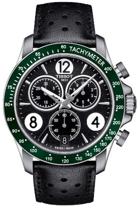 Men's Tissot V8 Chronographic Leather Strap Watch, 43Mm $395 thestylecure.com