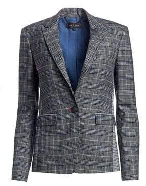 Rag & Bone Lexington Wool-Blend Plaid Blazer
