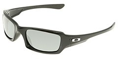 Oakley Fives Squared Polarized (Polished Black W/ Black Iridium Polarized) - Eyewear