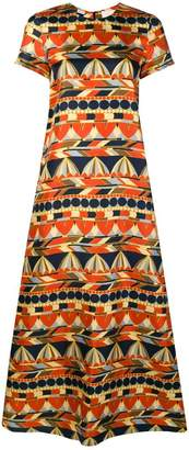DAY Birger et Mikkelsen La Doublej umbrella print maxi dress
