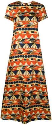 La Doublej umbrella print maxi dress