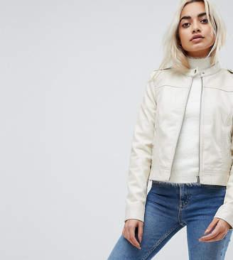 Vero Moda Petite Leather Look Biker Jacket