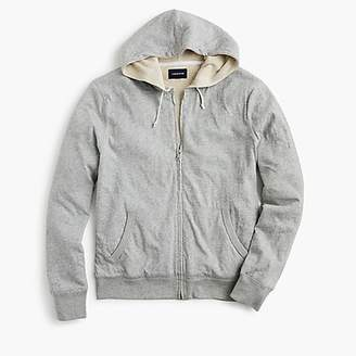J.Crew Slub jersey hoodie in thermal-lined cotton