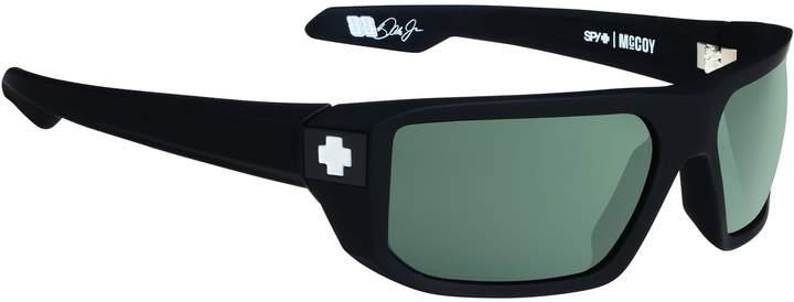 SPY Optic Mccoy Sunglasses Soft Matte Black/Happy Grey Green Polar