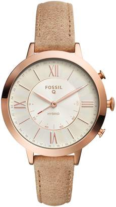 Fossil Q Jacqueline Leather Strap Hybrid Smart Watch, 36mm