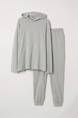 H&M Pajamas with Hooded Shirt - Gray
