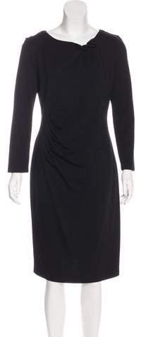 Armani Collezioni Long Sleeve Midi Dress