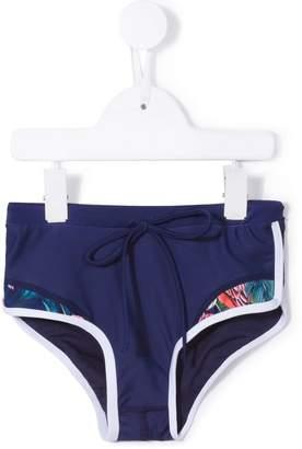 Duskii Girl tropical print surf shorts