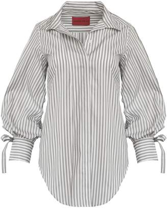 New View Strateas Carlucci Gather Ammo Shirt - Grey and White Stripe