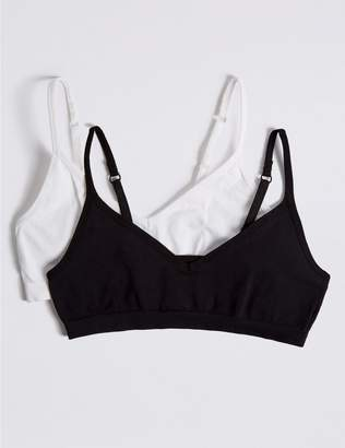 Marks and Spencer 2 Pack Seamfree Cropped Tops (9-16 Years)