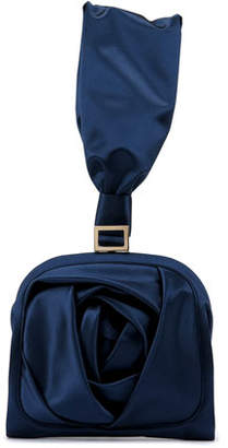 Roger Vivier Rose Bracelet Clutch Bag, Navy