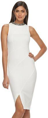 Women's Jennifer Lopez Embellished Sheath Midi Dress $80 thestylecure.com