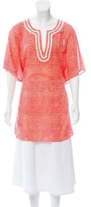 Tory Burch Printed Short Sleeve Tunic