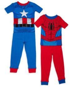 Little Boy's Four-Piece Spiderman Tee & Pants Set