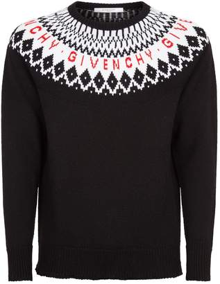 Givenchy Knitted Fair Isle Sweater