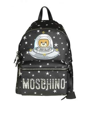 Moschino Backpack With Stars Black Color