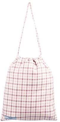 Prada Checkered Drawstring Pouch w/ Tags pink Checkered Drawstring Pouch w/ Tags