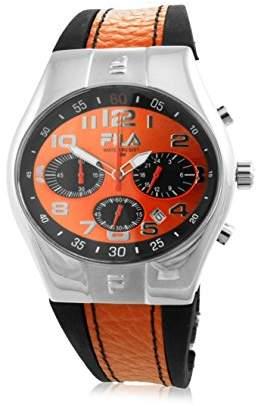 Fila Men's Quartz Watch with Black Dial Analogue Display Quartz Rubber 7553492 15