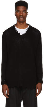 R 13 Black Cashmere V-Neck Sweater