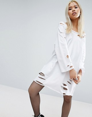 ASOS Off Shoulder Sweat Dress with Nibbles $43 thestylecure.com