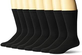 Hanes Ultimate Men's Big and Tall 8-Pack FreshIQ Big & Tall Crew Socks, 12-14