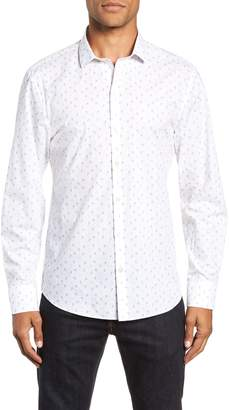 Zachary Prell Cortinas Regular Fit Print Sport Shirt